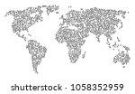 global mosaic map designed of...   Shutterstock .eps vector #1058352959