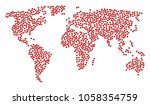 worldwide collage map created... | Shutterstock .eps vector #1058354759