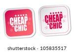 cheap   chic stickers   Shutterstock . vector #105835517