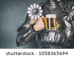knight wearing armor and... | Shutterstock . vector #1058365694