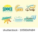 summer vector text | Shutterstock .eps vector #1058369684