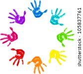 Set Of Colorful Hand Prints...