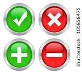permission buttons set  vector... | Shutterstock .eps vector #105838475