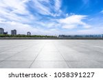 empty floor and square with... | Shutterstock . vector #1058391227