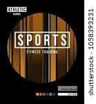 t shirt design sports training... | Shutterstock .eps vector #1058393231