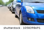 closeup of front side of blue... | Shutterstock . vector #1058398691