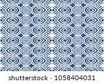 ikat seamless pattern. vector... | Shutterstock .eps vector #1058404031