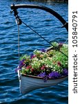Boat Full Of Decorative Flowers