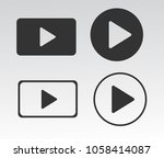 media player buttons vector eps ... | Shutterstock .eps vector #1058414087