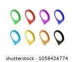 set of modern map markers.... | Shutterstock .eps vector #1058426774