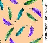 watercolor seamless pattern... | Shutterstock . vector #1058434634