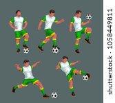 soccer players set   Shutterstock .eps vector #1058449811