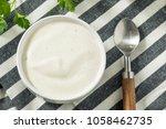creamy homemade ranch dressing... | Shutterstock . vector #1058462735