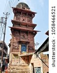Small photo of 25th February 2012. Mathura. India. Typical Indian tower.
