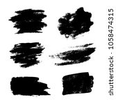 set of black grunge brushes as... | Shutterstock .eps vector #1058474315
