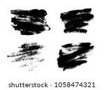 set of black grunge brushes as... | Shutterstock .eps vector #1058474321