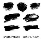 set of black grunge brushes as... | Shutterstock .eps vector #1058474324