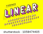 trendy display font popart... | Shutterstock .eps vector #1058474405