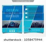 poster flyer pamphlet brochure... | Shutterstock .eps vector #1058475944