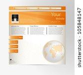 orange color web site design | Shutterstock .eps vector #105848147