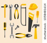 construction tools equipment | Shutterstock .eps vector #1058481614