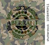 aberrant on camo texture | Shutterstock .eps vector #1058490911