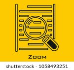 zoom vector icon