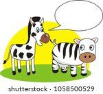 zebra and cow have different...   Shutterstock .eps vector #1058500529