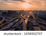 dallas texas highways 2 | Shutterstock . vector #1058502707