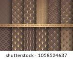 art deco patterns set. seamless ...   Shutterstock .eps vector #1058524637