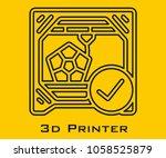 3d printer vector icon