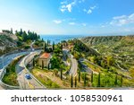 a drive along the sicilian... | Shutterstock . vector #1058530961