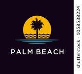 palm beach logo design...   Shutterstock .eps vector #1058538224