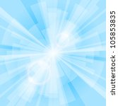 blue light background with rays.... | Shutterstock .eps vector #105853835