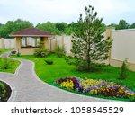 beautiful landscape design in a ...   Shutterstock . vector #1058545529