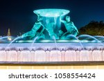 triton fountain  valletta | Shutterstock . vector #1058554424
