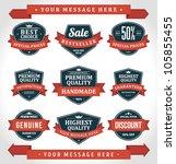 vintage labels or badges and... | Shutterstock .eps vector #105855455