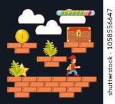 video game scene interface | Shutterstock .eps vector #1058556647