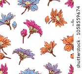 pattern of the inflorescences...   Shutterstock .eps vector #1058559674