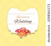 wedding invitation design | Shutterstock .eps vector #1058561171