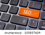 Search engine optimization, SEO concepts, internet website ranking or online marketing. - stock photo