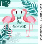 cute summer abstract ... | Shutterstock .eps vector #1058577245