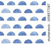 blue watercolor hand drawn...   Shutterstock . vector #1058577287