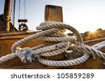 detail of a sailing boat ... | Shutterstock . vector #105859289