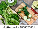 the cooking process  healthy... | Shutterstock . vector #1058593031