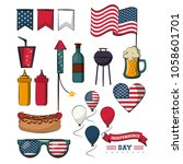 independence day collection | Shutterstock .eps vector #1058601701