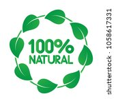 100 percent natural product... | Shutterstock .eps vector #1058617331