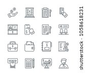 simple set banking related icons | Shutterstock .eps vector #1058618231