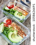 healthy meal prep containers... | Shutterstock . vector #1058626691