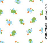 seamless pattern of the cute... | Shutterstock .eps vector #1058628971